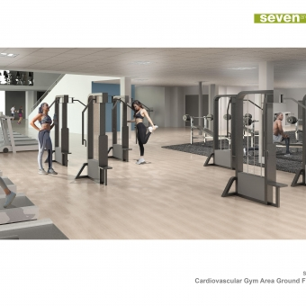 This is a visual produced for the Sugden Sport Centre project, using Revit and Photoshop only.